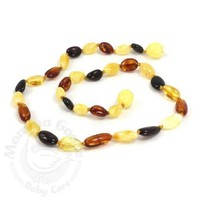 MOMMA GOOSE PRODUCTS YOUTH AMBER HEALING NECKLACE-OLIVE