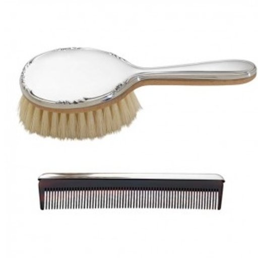 REED & BARTON GEORGIA BRUSH AND COMB SET
