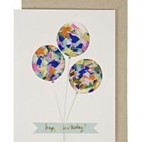 MERI MERI BALLOON CONFETTI BIRTHDAY CARD