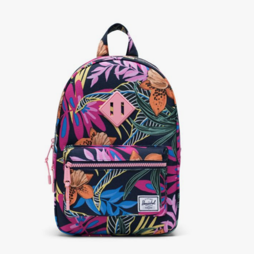 HERSCHEL HERTITAGE BACKPACK KIDS- JUNGLE FLORAL PEACOAT PEONY