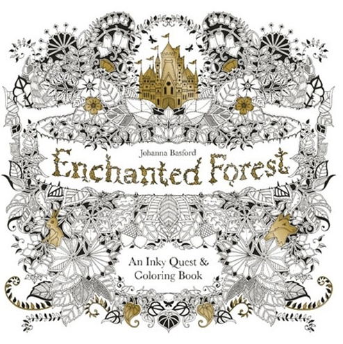 HACHETTE MUDPUPPY JOHANNA BASFORD ENCHANTED FOREST COLORING BOOK - BellaBoo