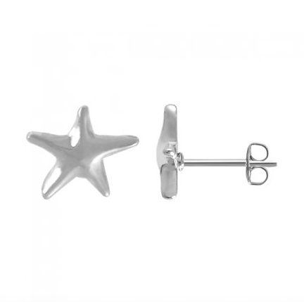 BOMA STERLING SILVER STARFISH STUD EARRING