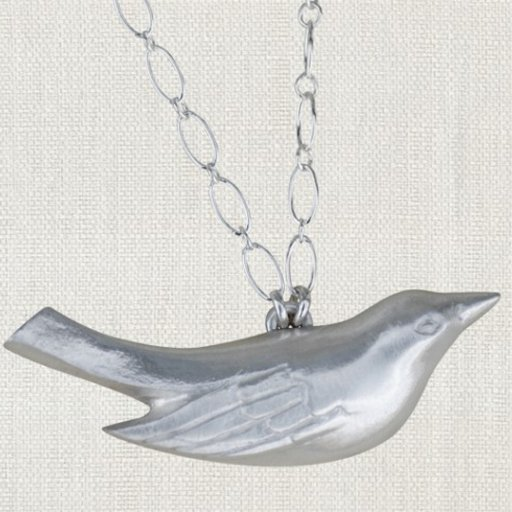 "SWOON MAMA BIRD NECKLACE 17"" STERLING SILVER NECKLACE"