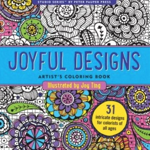 PETER PAUPER PRESS INC. JOYFUL DESIGNS COLORING BOOK