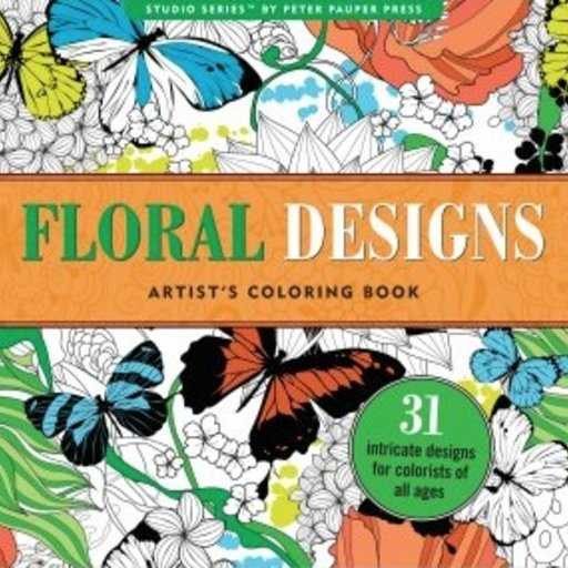 PETER PAUPER PRESS INC. FLORAL DESIGNS COLORING BOOK