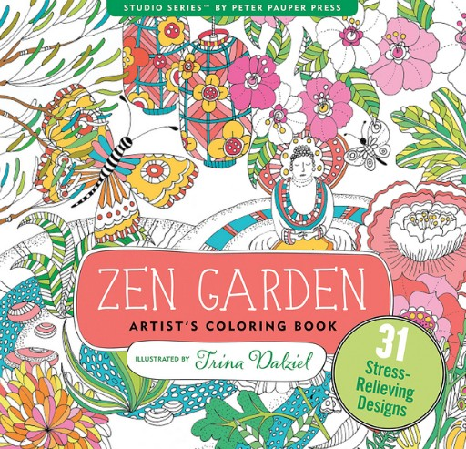 PETER PAUPER PRESS INC. ZEN GARDEN COLORING BOOK - BellaBoo