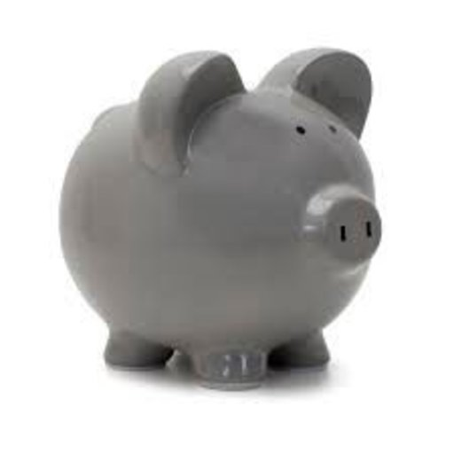 CHILD TO CHERISH BIG EAR GRAY PIGGY BANK