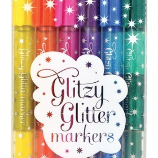 INTERNATIONAL ARRIVALS GLITZY GLITTER MARKERS