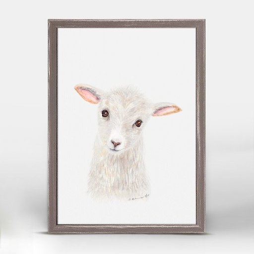 OOPSY DAISY MINI FRAMED BABY LAMB PORTRAIT 5X7