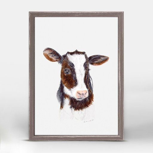 OOPSY DAISY MINI FRAMED BABY COW PORTRAIT 5X7