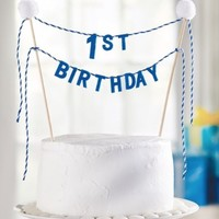 MUD PIE 1ST BIRTHDAY CAKE TOPPER