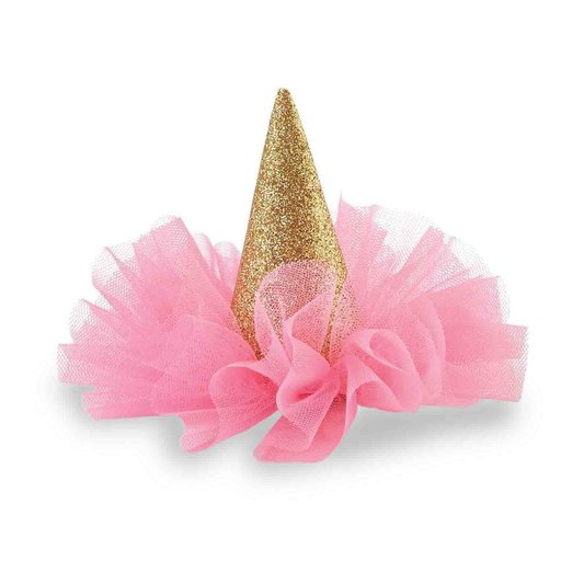 MUD PIE GLITTER PARTY HAT CLIP