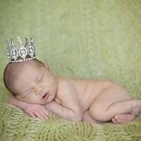 THE DAISY BABY RHINESTONE CROWN WITH CLEAR STONES