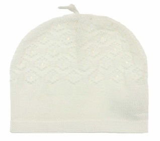 ANGEL DEAR ANGEL DEAR POINTELLE HAT 6-12M