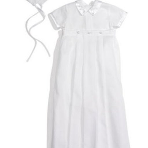 KISSY KISSY PHILLIP SHORT SLEEVE CONVERTER GOWN & HAT SET 3-6M