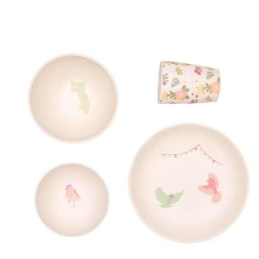 LOVE MAE WOODLAND SUPPER 4PC SET