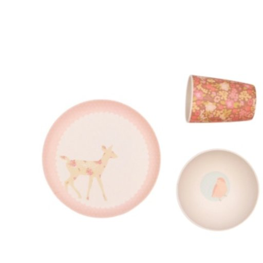 LOVE MAE WOODLAND CRITTERS DINNER SET