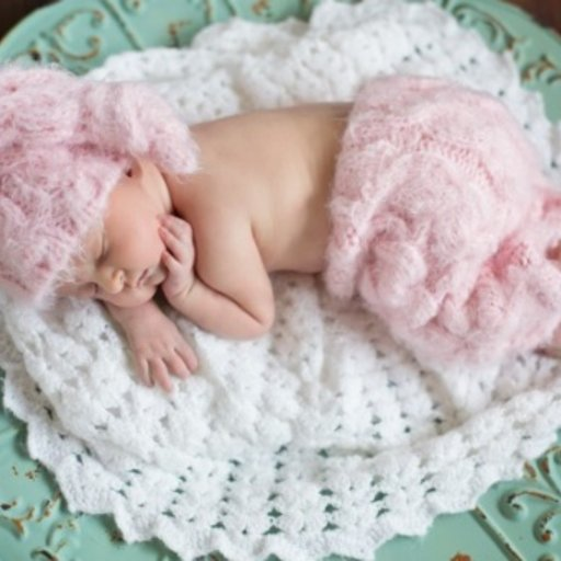 THE DAISY BABY SPECIALTY YARN PANT & KNOTTED TAIL HAT, NEWBORN