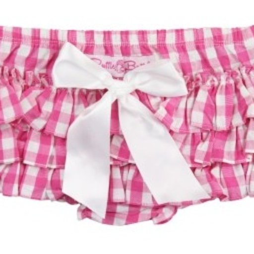 RUFFLEBUTTS, INC. RUFFLEBUTTS CANDY GINGHAM DIAPER COVER