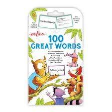 EEBOO 100 GREAT WORDS FLASH CARDS