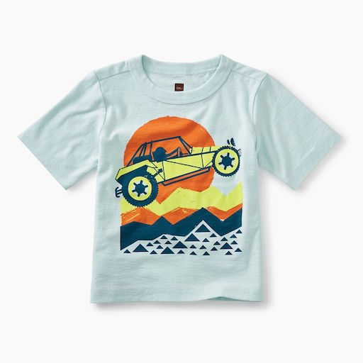 TEA DUNE BUGGY GRAPHIC BABY TEE