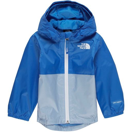 THE NORTH FACE INFANT ZIPLINE RAIN JACKET CLEAR LAKE BLUE
