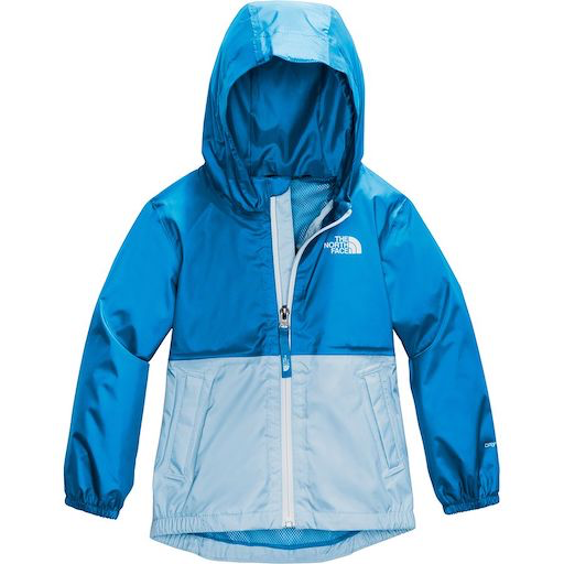 THE NORTH FACE TODDLER ZIPLINE RAIN JACKET CLEAR LAKE BLUE