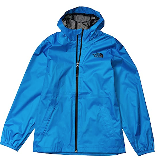 THE NORTH FACE YOUTH ZIPLINE RAIN JACKET CLEAR LAKE BLUE