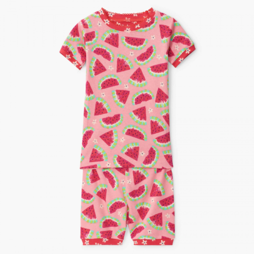 HATLEY WATERMELON SLICES ORGANIC COTTON PAJAMA SHORT SET