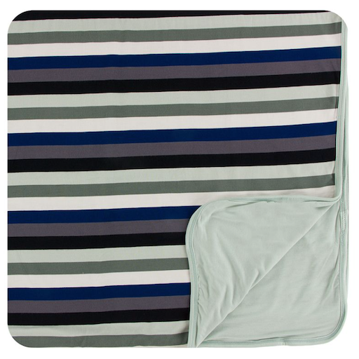 KICKEE PANTS PRINT TODDLER BLANKET IN ZOOLOGY STRIPE