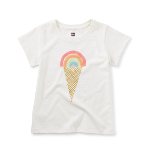TEA RAINBOW ICE CREAM SCOOP TEE