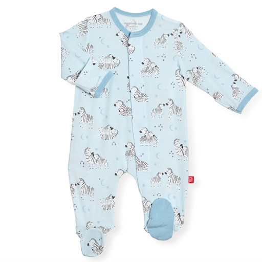 MAGNIFICENT BABY BLUE LITTLE ONE  MAGNETIC MODAL FOOTIE