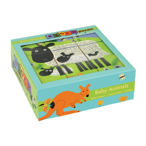 GALISON MUDPUPPY BABY ANIMALS BLOCK PUZZLE