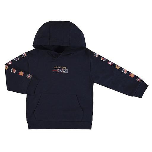 MAYORAL USA FLAGS PULLOVER WITH HOODIE