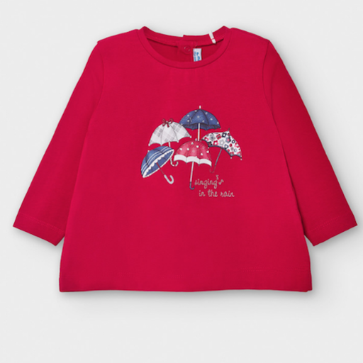MAYORAL USA LONG SLEEVE T-SHIRT WITH UMBRELLAS