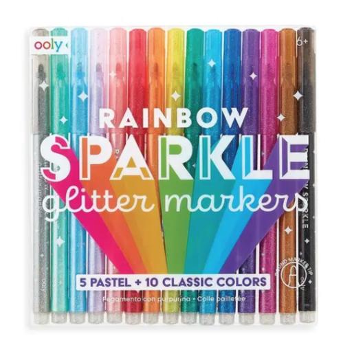INTERNATIONAL ARRIVALS RAINBOW SPARKLE GLITTER MARKERS