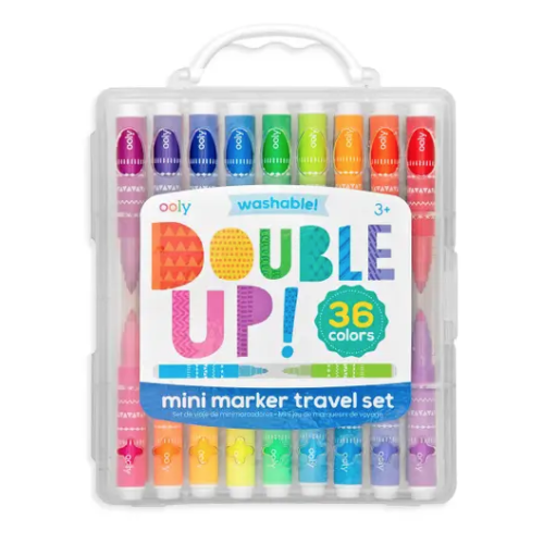 INTERNATIONAL ARRIVALS DOUBLE UP 2-IN-1 MINI MARKERS