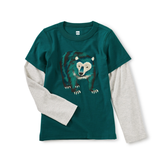 TEA BIG BEAR LAYERED GRAPHIC TEE