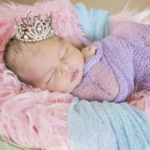 THE DAISY BABY RHINESTONE CROWN WITH PEARLS AND CLEAR STONES