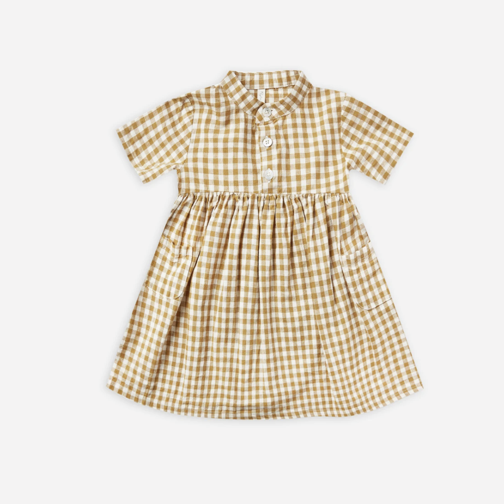RYLEE AND CRU ESME DRESS IN GINGHAM