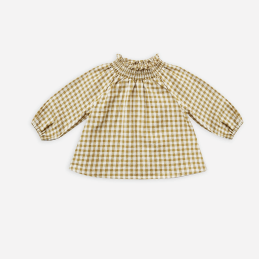 RYLEE AND CRU AUDREY BLOUSE IN GINGHAM