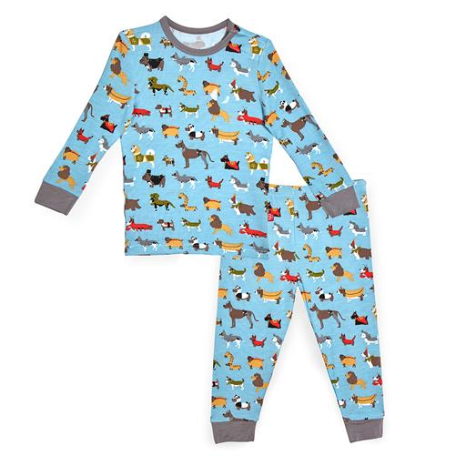MAGNIFICENT BABY IN-DOG-NITO MODAL MAGNETIC 2 PIECE TODDLER PAJAMA SET