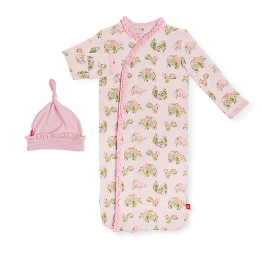 MAGNIFICENT BABY EDEN MODAL MAGNETIC GOWN AND HAT SET