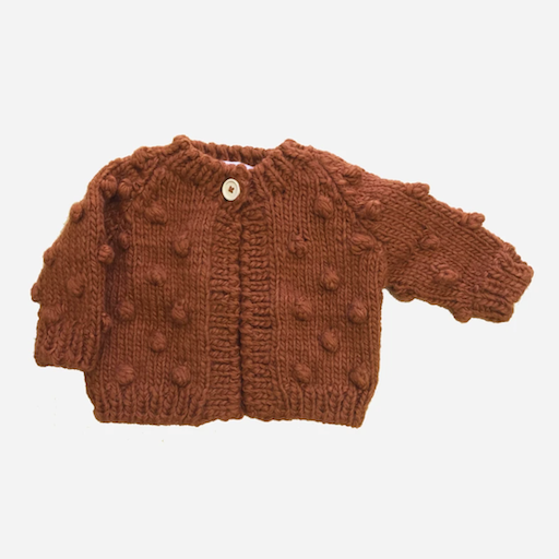 THE BLUEBERRY HILL POPCORN SWEATER CINNAMON