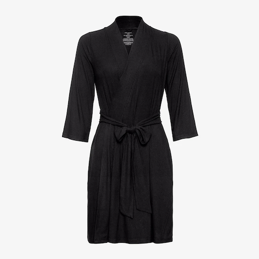 POSH PEANUT MOMMY ROBE SOLID RIBBED