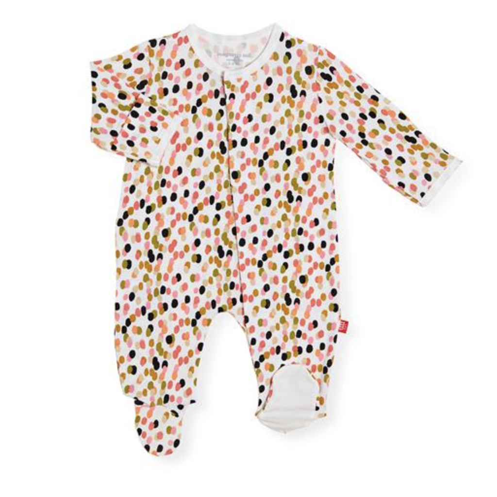 MAGNIFICENT BABY CONFETTI MODAL MAGNETIC FOOTIE