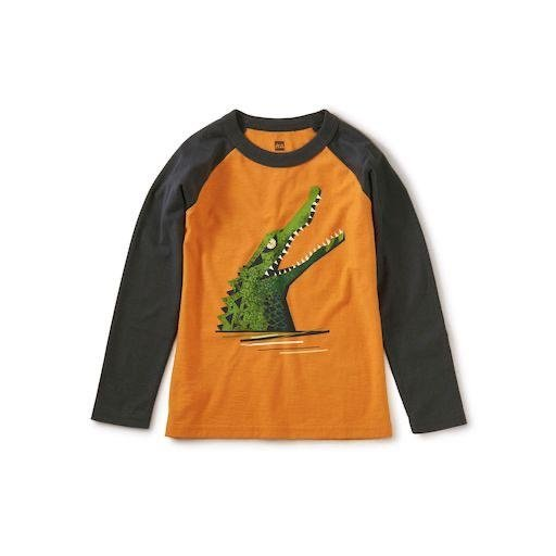 TEA CHOMP RAGLAN GRAPHIC TEE