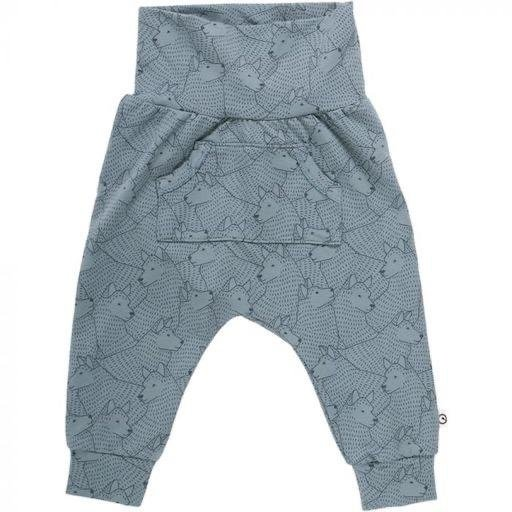 MUSLI WOLF PRINTED BABY PANTS