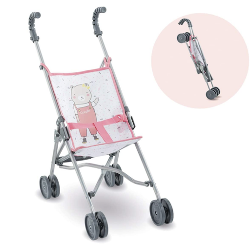 COROLLE PINK UMBRELLA DOLL STROLLER