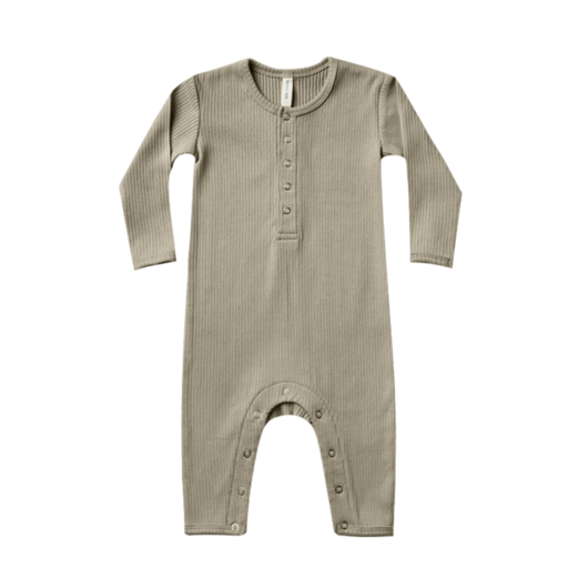 QUINCY MAE ORGANIC RIBBED BABY JUMPSUIT